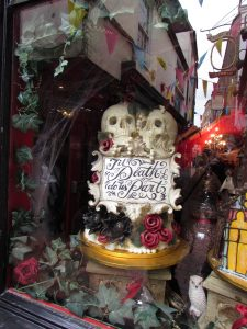 Choccywoccydoodah window display in The Lanes, Brighton